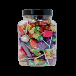 6 X EMPTY PLASTIC VICTORIAN SWEET CANDY JAR 380ml